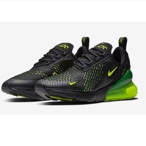 NEW Nike Big Kids Air Max 270 GS Black Volt